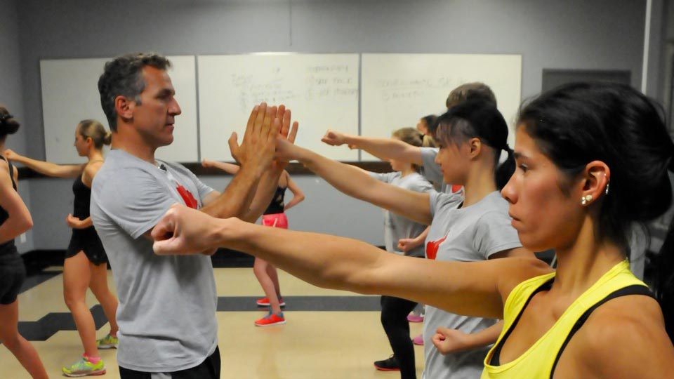Elvis Stojko trains young skaters.